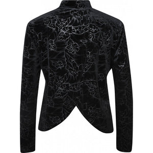 NU Denmark -BEA-2-in-1-Velvet-blouse-black