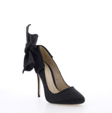 Bronx Aria Heels in Black Satin