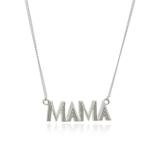 RACHEL JACKSON-ART DECO MAMA NECKLACE - SILVER