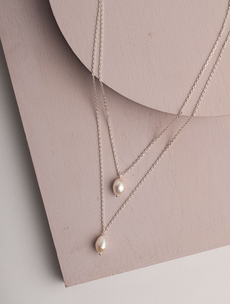 olia-cameo-necklace-silver-double-layer-pearl-charms-eva-lucia-boutique-perth-scotland