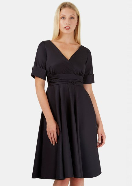 Closet Black Flared Dress