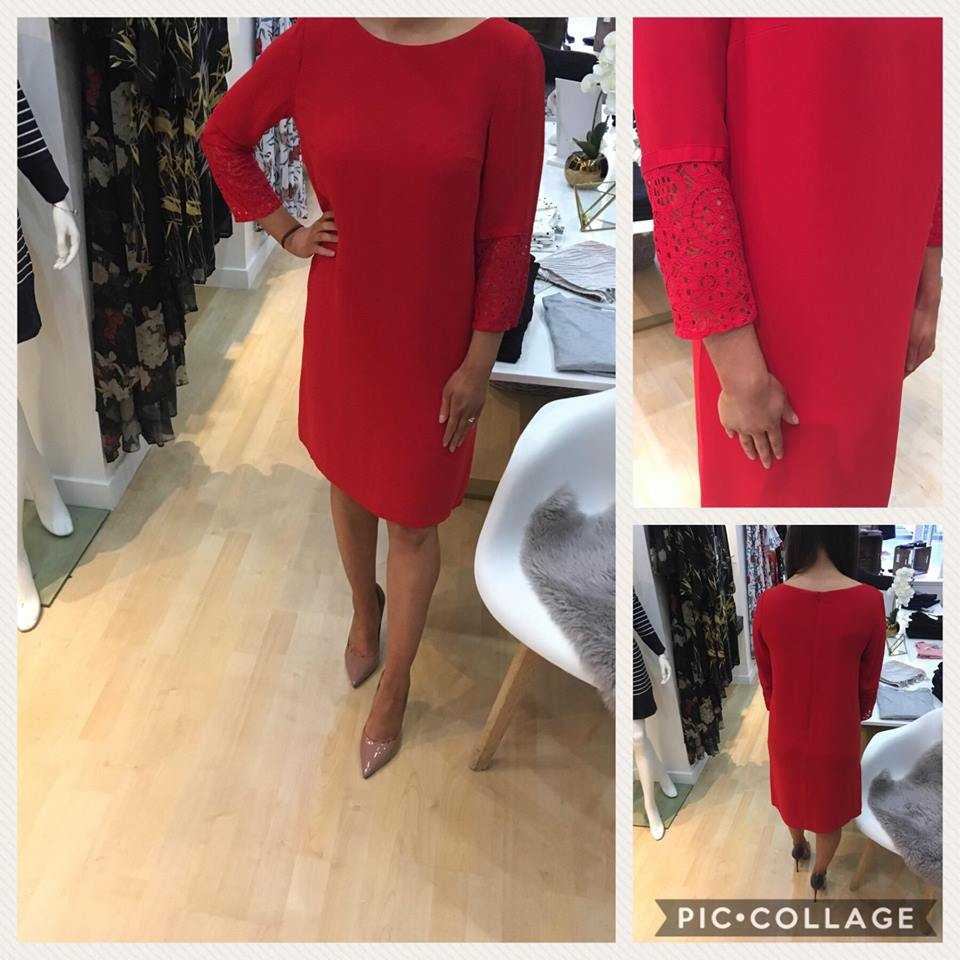 French Connection Blazer Red Shift Dress