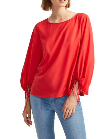 French Connection Light Crepe Balloon Sleeve Blouse