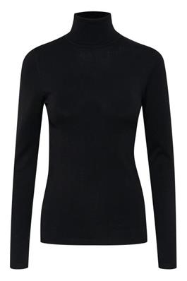 Ichi Mafa Polo neck black  and wine- 103646