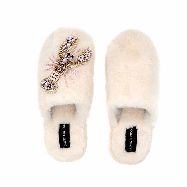 laines-of-london-slippers-cream-pink-lobster-closed-toe-eva-lucia-boutique-perth-scotland