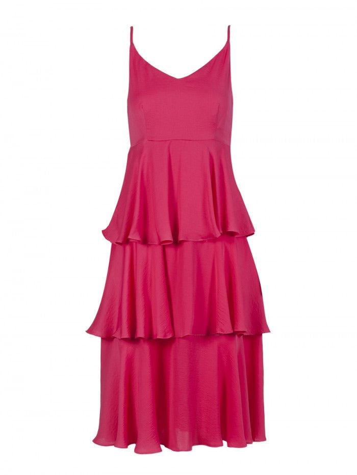 Anonyme Dimpo Amelie Midi Dress - Pink - P210SD123