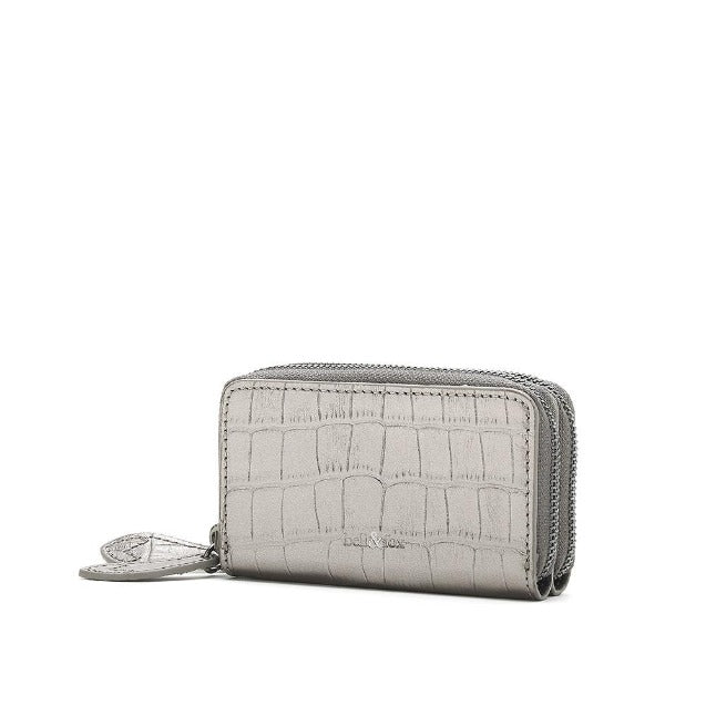Bell & Fox Ava Mini Double Zip Purse - pewter
