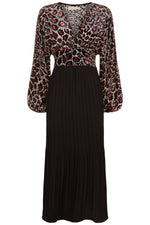 traffic-people-caution-maxi-dress-black-pink-eva-lucia-boutique-perth-scotland