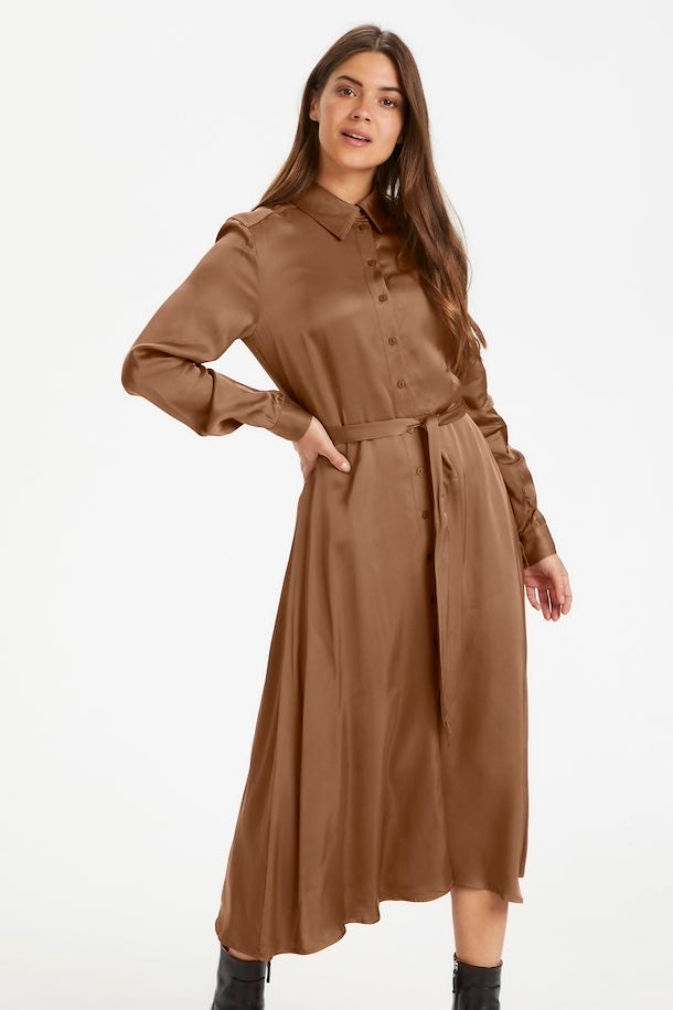 Part Two Eriona Dress - Hazel brown- 30305463