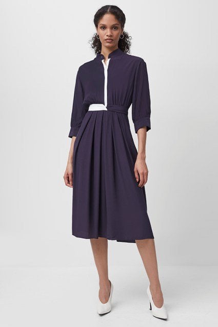 french-connection-aiden-drape-contrast-shirt-dress-evalucia-boutique-perth-scotland