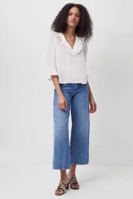 french-connection-pipper-cropped-wide-leg-jeans-mid-blue-eva-lucya-boutique-perth-acotland