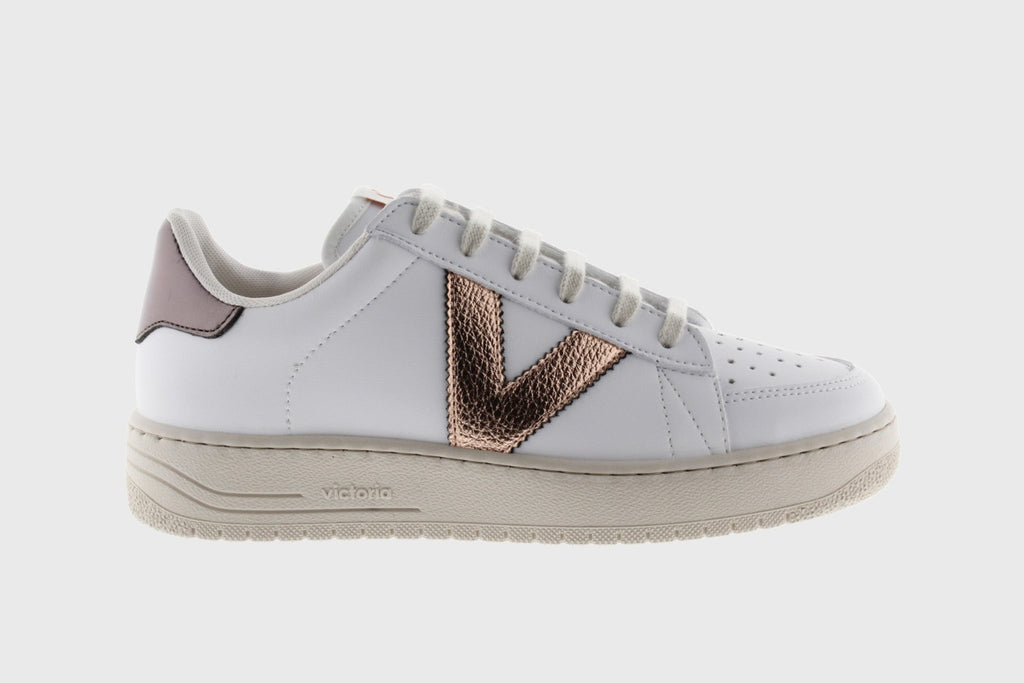 Victoria Siempre Metallic Detail Trainers- 1129103-nude