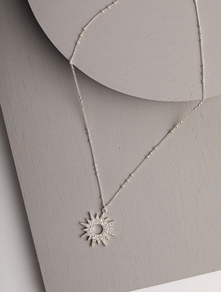 Olia Maeve Necklace - silver