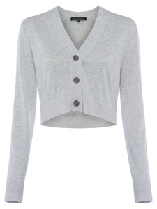 french-connection-loxi-cardigan-dove-grey-mel-eva-lucia-boutique-perth-scotland