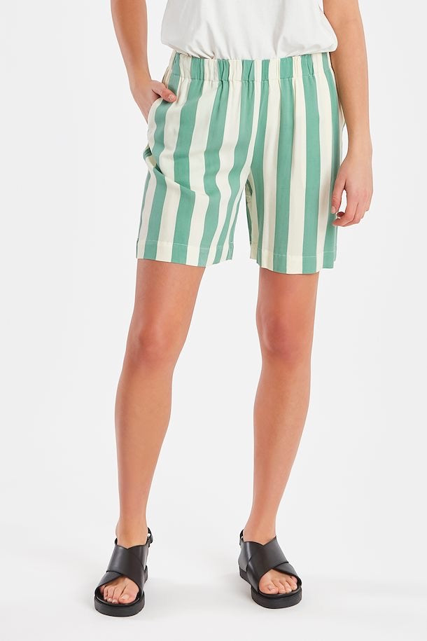Ichi Catarina Shorts - malachite green - 20111636