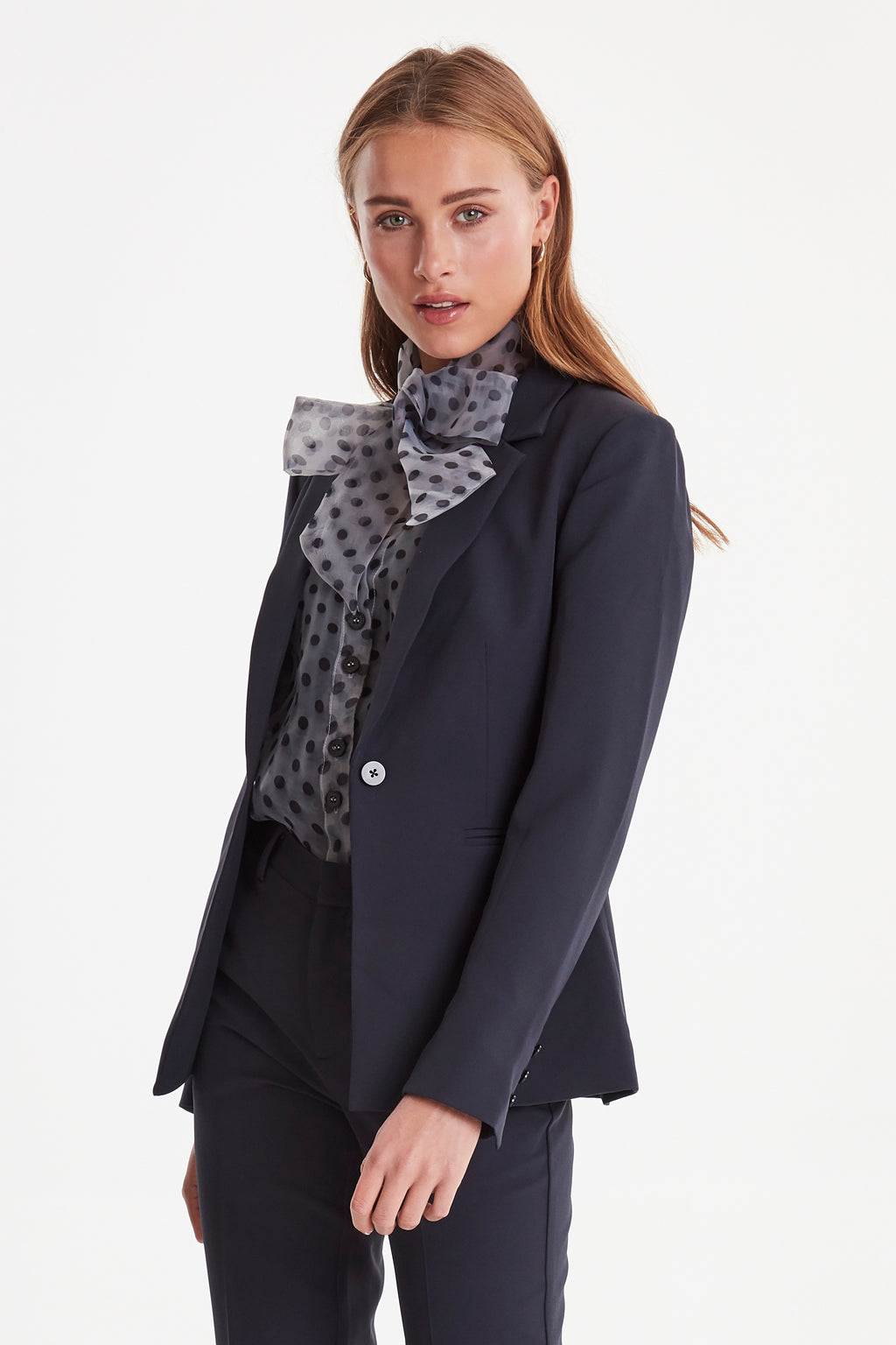 ICHI Kate Navy Blazer