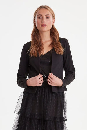 Ichi Kate Short Blazer- Black- 20112547