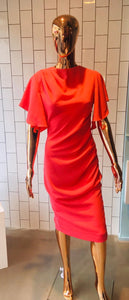James Steward Hardy Pencil Dress - Coral