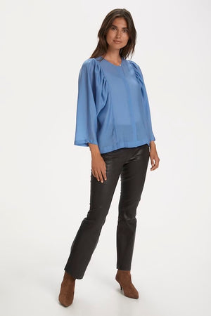 Part Two Everlyn Blouse - dusky blue-30305432