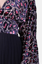 Traffic People Caution Dress- black/pink- 12014014