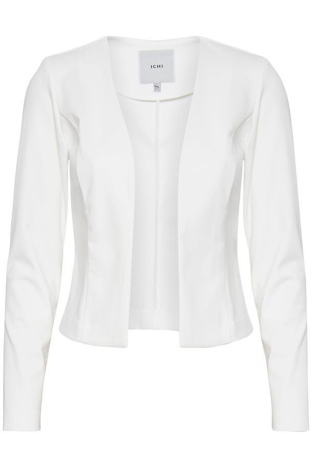 ichi-kate-blazer-short-cloud-dancer-white-eva-lucia-boutique-perth-scotland