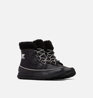 SOREL Explorer Carnival Boots - black waterproof
