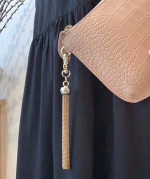 Bell & Fox Ivy Crossbody Bag - camel croc