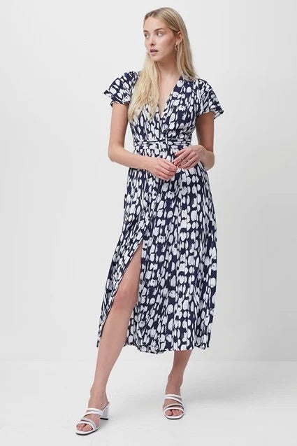 french-connection-islanna-crepe-printed-midi-dress-evalucia-boutique-perth-scotland