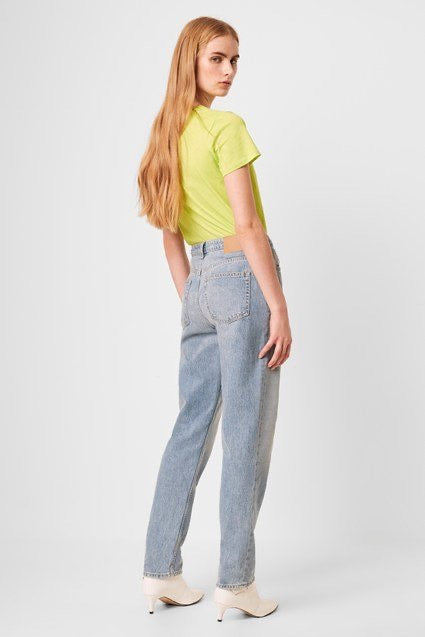French Connection Palmira Denim High Waist Straight Leg Jean - 74NAC
