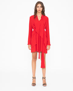 Silvian-Heach-Italy-Mogente-dress-red-Eva-lucia-Perth