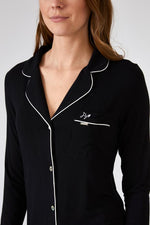Pretty You London Bamboo Nightshirt - Black