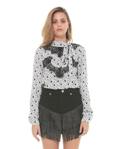 silvian-heach-andulo-blouse-moons-stars-neck-tie-eva-lucia-boutique-perth-scotland