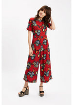 Traffic People Bianca Jumpsuit Red