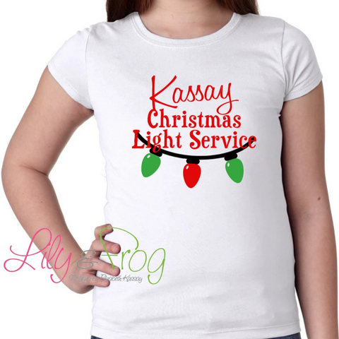 Christmas Light Service Girl's T-Shirt