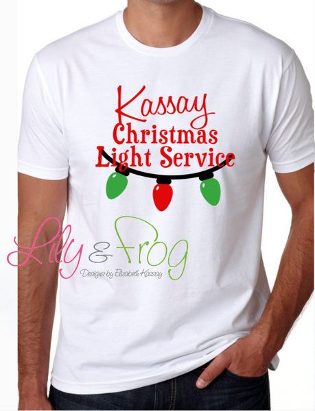 Christmas Light Service Men's T-Shirt