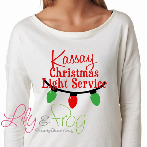 Christmas Light Service Women's Long Sleeve Sweatshirt