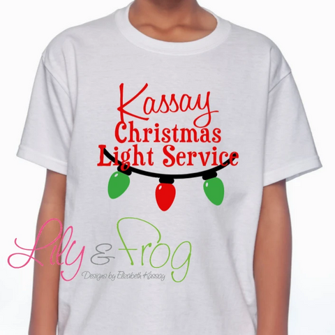 Christmas Light Service  Kid's T-Shirt