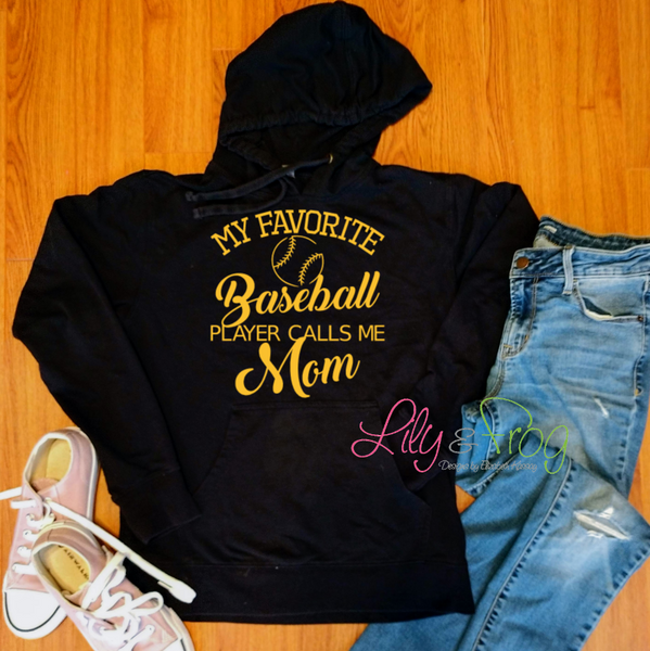 Baseball Mom Women's Lightweight Hooded Sweatshirt