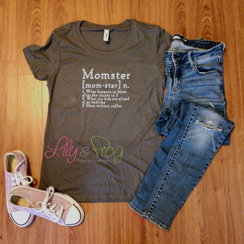 Mom-ster Women's Fitted T-Shirt