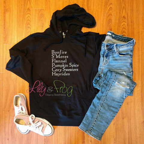 Fall Favorites Women's Lightweight Hooded Sweatshirt
