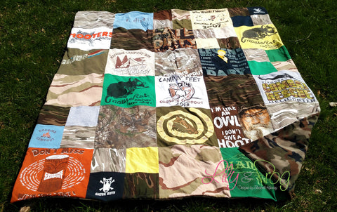 Keepsake T-Shirt Blanket Size Large Blanket (Twin Blanket)