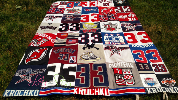 "Keepsake T-Shirt Blanket Size Extra Large (Long Twin Blanket) with 12""x12"" squares"