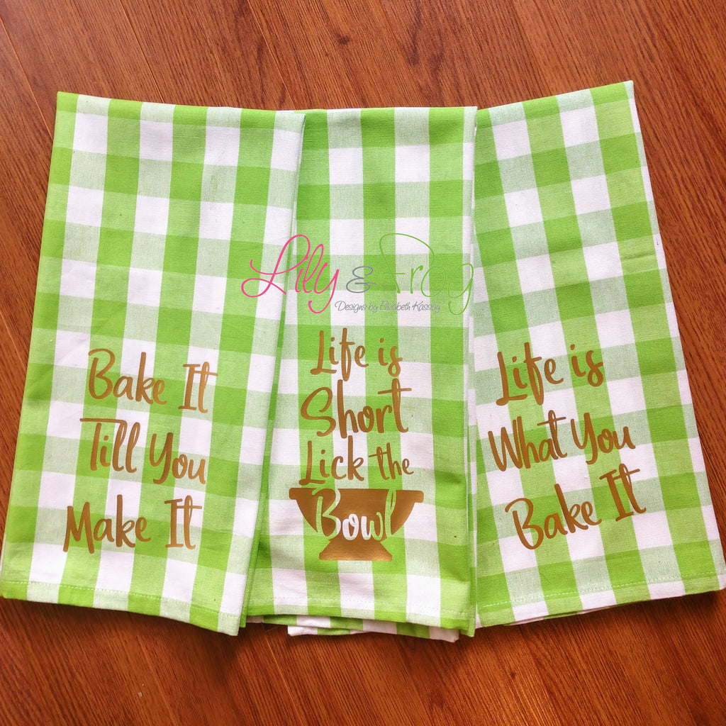 Kitchen Towel - Baking Theme (Set of 3)