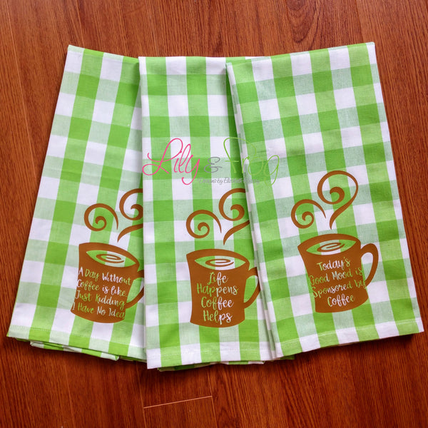 Kitchen Towel - Coffee Theme (Set of 3)