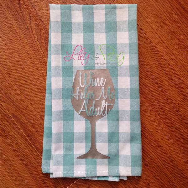 Kitchen Towel - Wine Theme (One Unit)