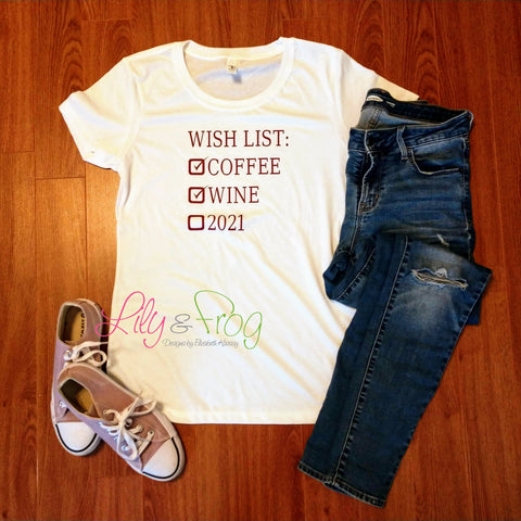 Wish List Women's Fitted T-Shirt & Dolman T-Shirt
