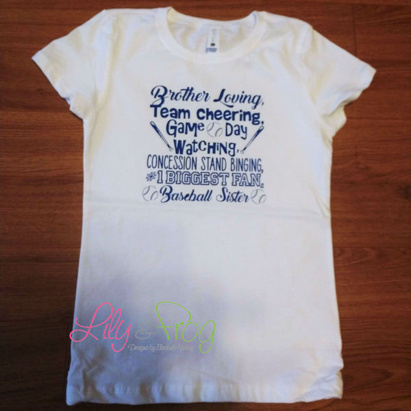 Baseball Sister Girl's T-Shirt