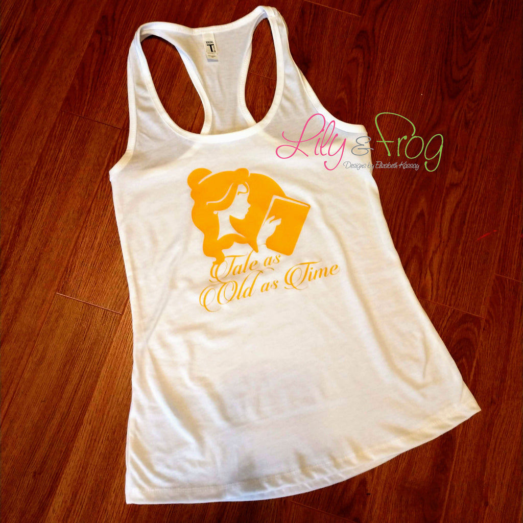 Tale as Old as Time Women's Racerback & Fitted Tank Top