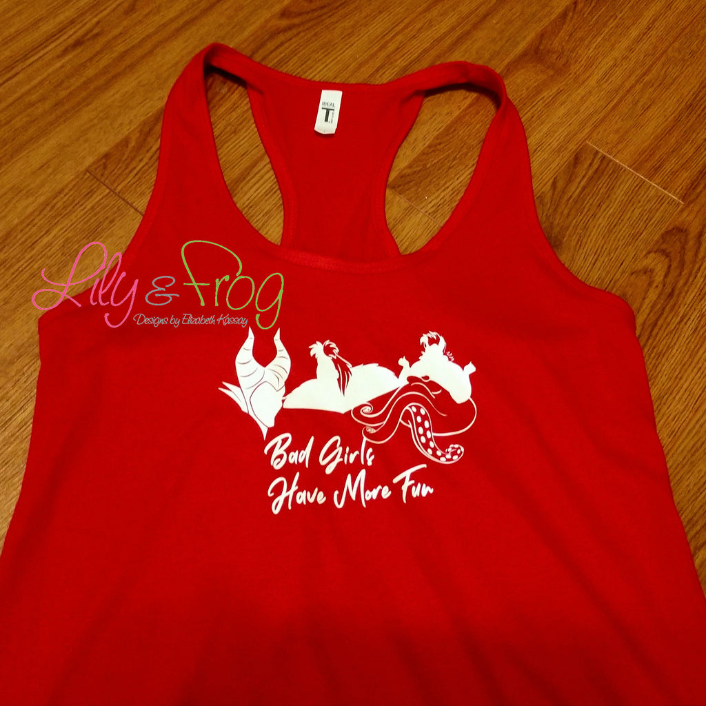 Bad Girls Have More Fun Racerback & Fitted Tank Top