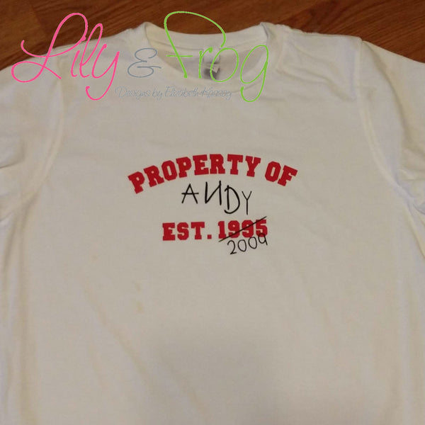 Property of Andy Kid's T-Shirt